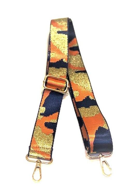 Orange & Blue Camoflauge Bag Strap