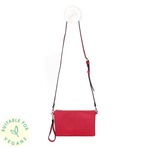 Vegan Leather Bright Pink Convertible Clutch Bag