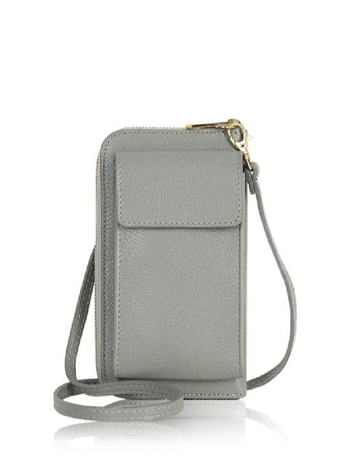 Light Grey Wallet/ Crossbody Phone Bag