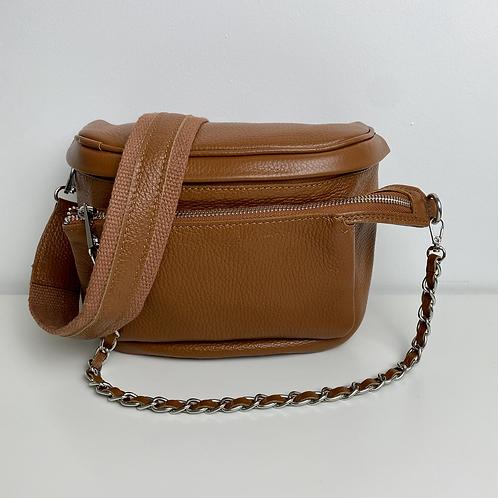 Dark Tan Pouch Crossbody Bag