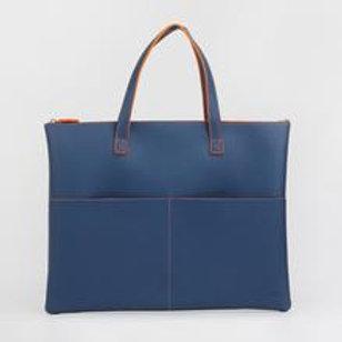 Navy & Orange Tech Tote Bag