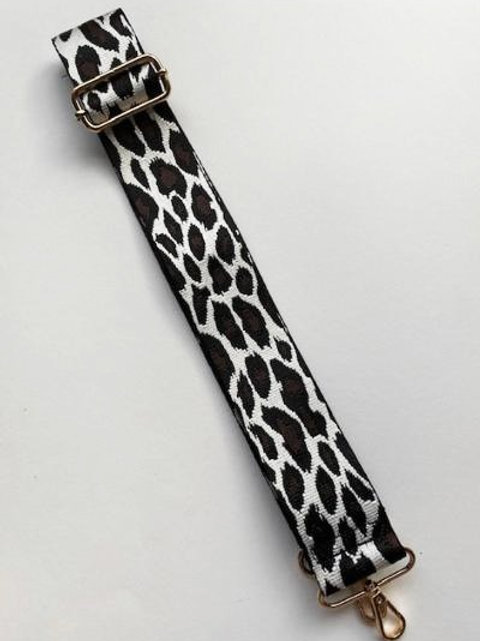 Black & Brown Animal Print Bag Strap