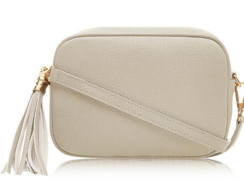 Cream Cross Body Bag with Tassel