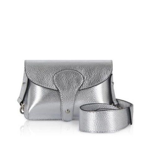 Silver Chunky Strap Bag