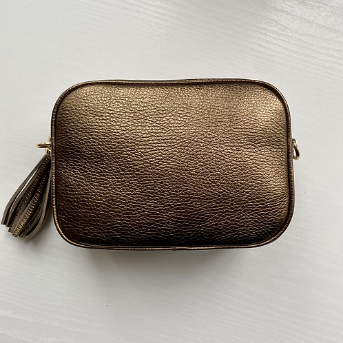 Light Bronze Crossbody Bag with Tassel