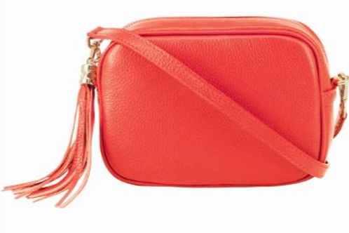 Coral Cross Body Bag with Tassel