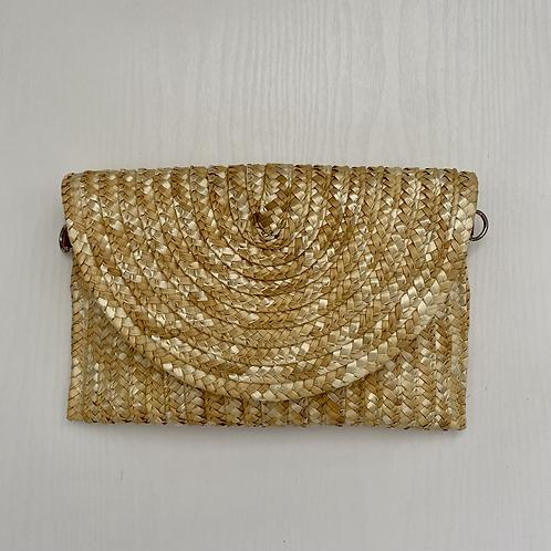Natural Straw Clutch Bag