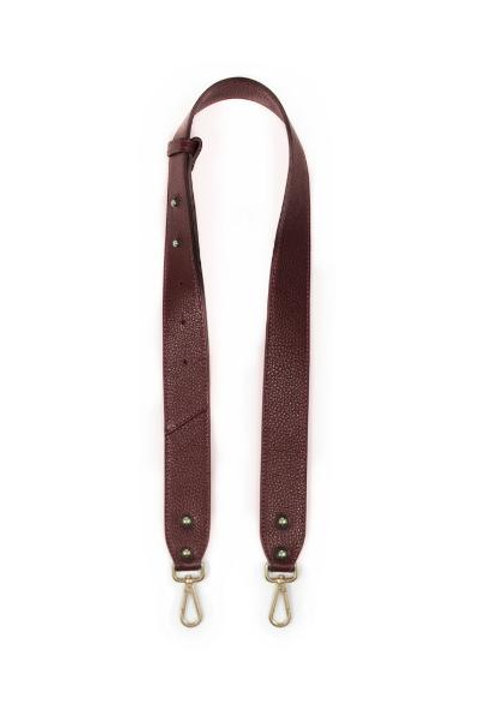 Burgundy Leather Chunky Bag Strap