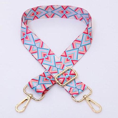 Pink & Blue Multichevron Bag Strap