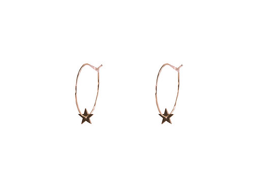 Estelle Rose Gold Star Hoop Earrings