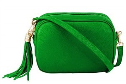 Preorder - despatch within 2 weeks - Green Cross Body Bag with Tassel