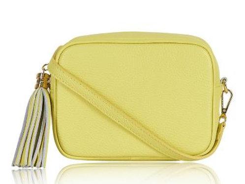 Lemon Cross Body Bag with Tassel