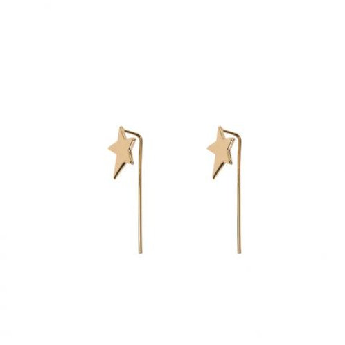Chara Gold Mini Star Pull Through Earrings