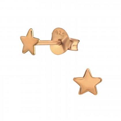 Rose Gold Star Stud Earrings