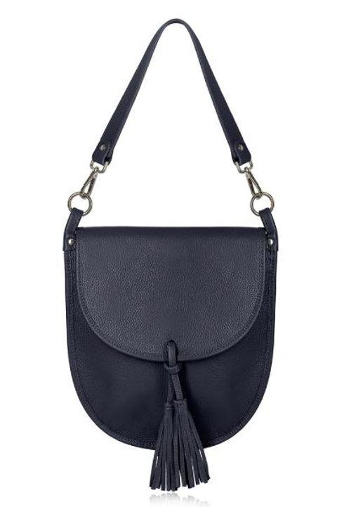 Navy Tassel Tote/ Crossbody Bag
