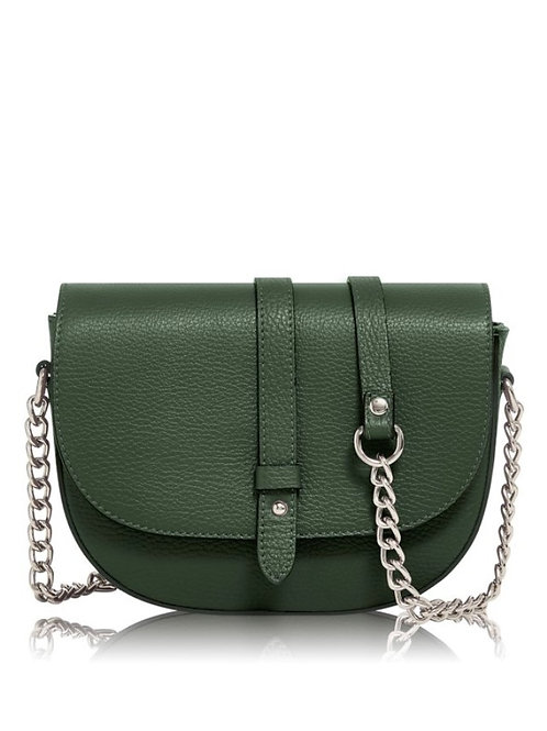 Dark Green Chain Strap Bag
