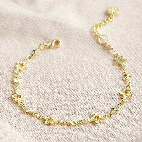 Gold Star Chain Bracelet