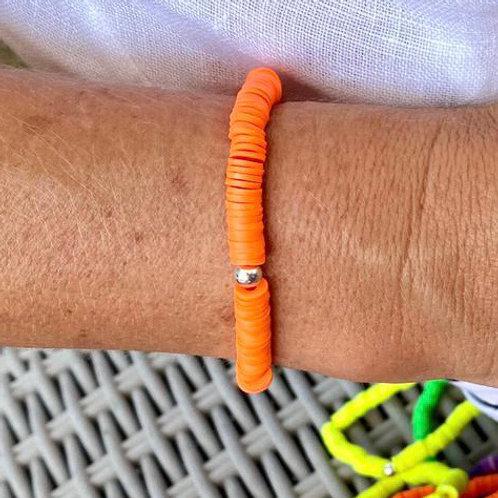 Orange Beaded Bracelet
