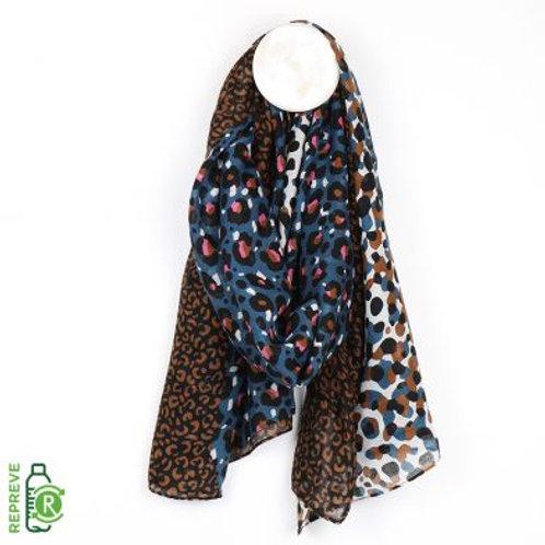 Leopard print  mix scarf
