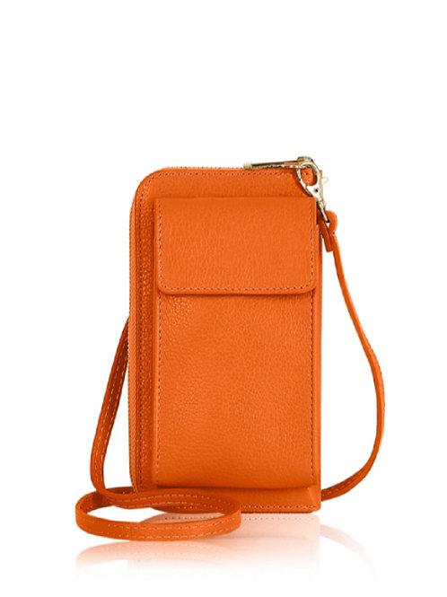 Bright Orange Wallet/ Crossbody Phone Bag