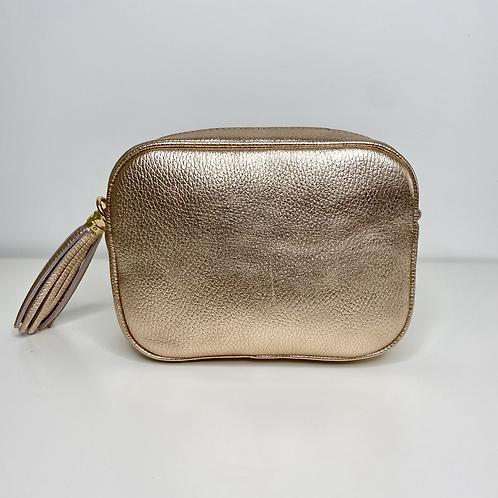 Rose Gold Crossbody Bag with Tassel