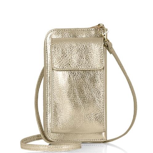 Gold Wallet/ Crossbody Phone Bag