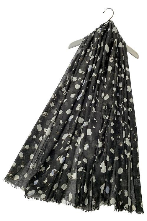Black & White Pebble Scarf