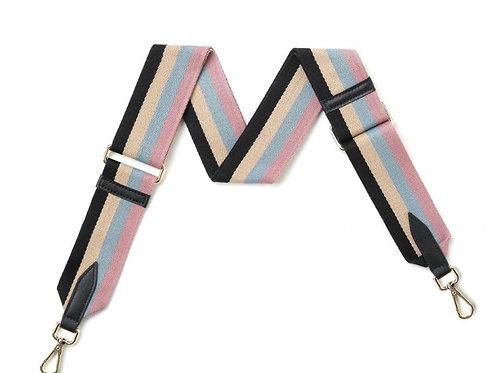 Pale Pink Multi-Stripe Bag Strap