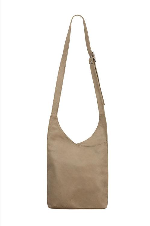 Light Taupe Slouchy Crossbody Bag