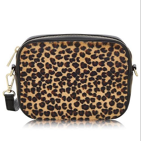 Jaguar Print Pony Skin Cross Body Bag