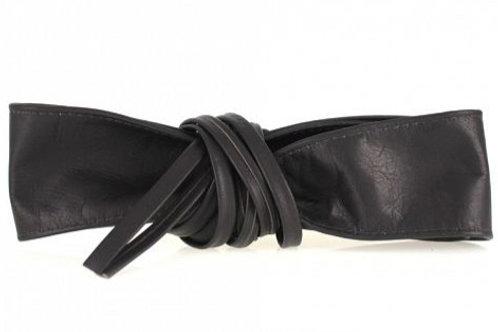 Dark Brown Obi Style Waist Belt