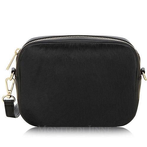 Black Pony Skin Cross Body Bag