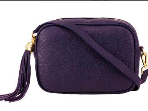 Dark Purple Cross Body Bag with Tassel