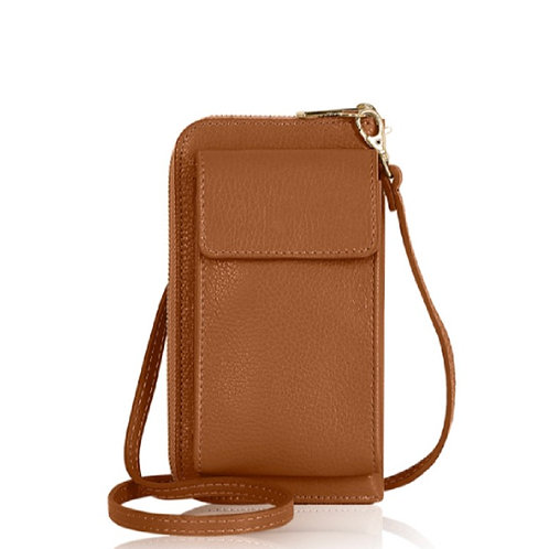 Tan Wallet/ Crossbody Phone Bag