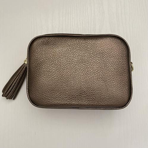 Dark Bronze Crossbody Bag with Tassel