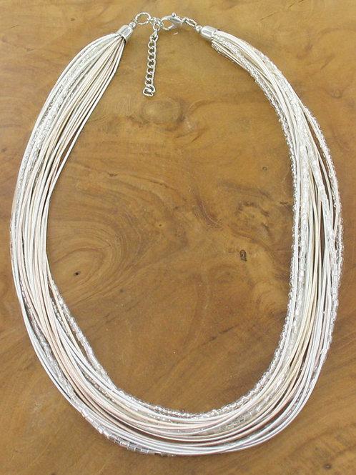 Multi-strand Bead & Wire Necklace