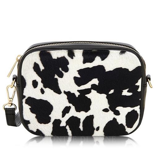 Cow Print Pony Skin Cross Body Bag
