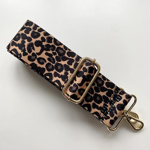 Small Animal Print Bag Strap - Gold Hardware