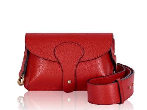 Red Chunky Strap Crossbody Bag