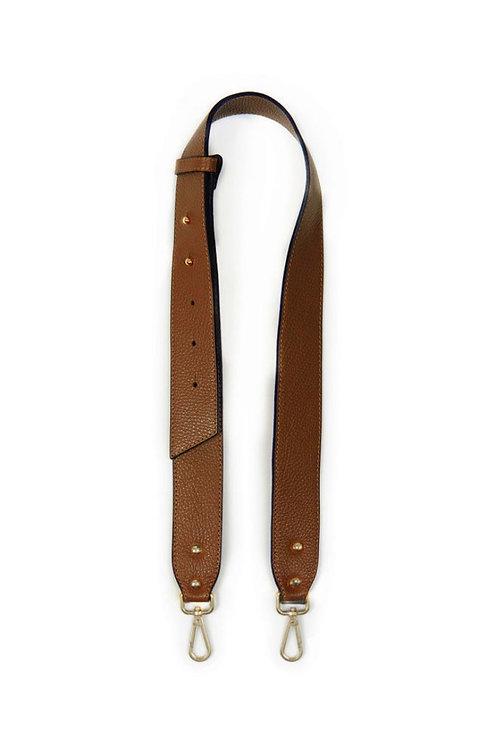Tan Leather Chunky Bag Strap