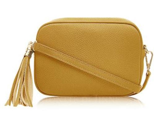 Mustard Cross Body Bag with Tassel
