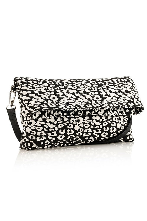 Leopard Print Crossbody/ Clutch Bag