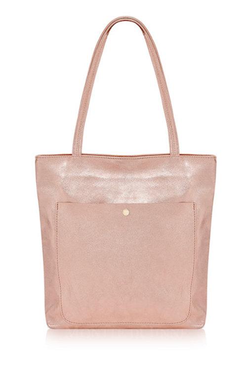Rose Gold Metallic Tote Bag