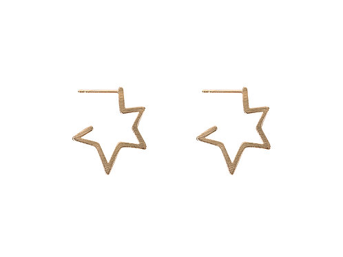 Chiarra Gold Star Earrings