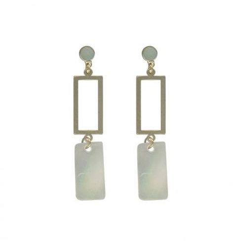 Perdita Cream & Gold Delicate Shell Earrings