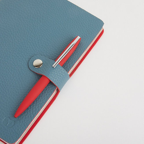 Teal & Red Notebook & Pen Set