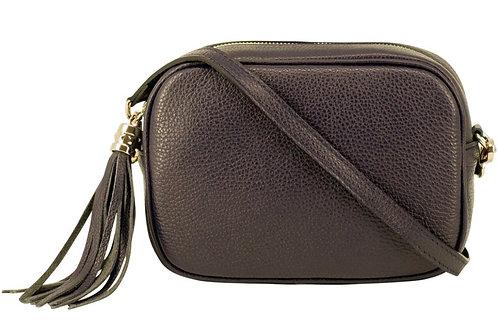 Dark Brown Cross Body Bag with Tassel
