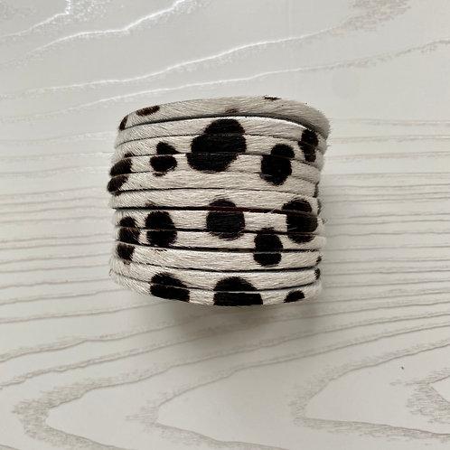 Dalmatian Print Wrap Bracelet