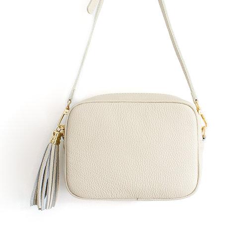 Cream Cross Body Bag with Tassel
