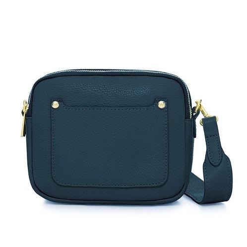 Dark Teal Double Zip Crossbody Bag